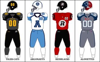 2014 CFL season - East Division Signature Uniforms