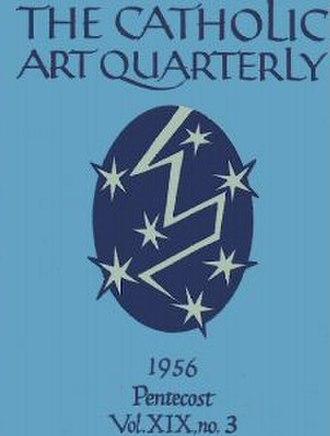 Catholic Art Quarterly - Cover of the Catholic Art Quarterly, Pentecost edition, 1956