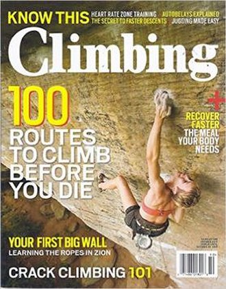 Climbing (magazine) - Cover of the magazine, October 26, 2015