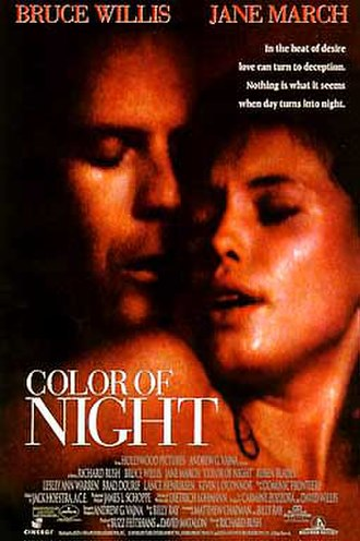 Color of Night - Theatrical release poster
