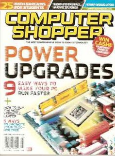 <i>Computer Shopper</i> (US magazine) former magazine published by SX2 Media Labs