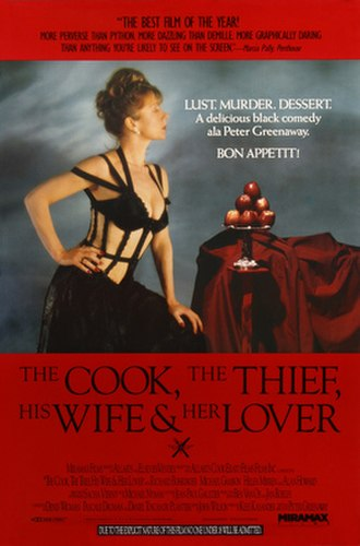 The Cook, the Thief, His Wife & Her Lover - Theatrical release poster