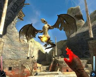 Dark Messiah of Might and Magic - The player attacks a Pao kai.