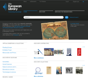 European Library - Image: European Library screenshot