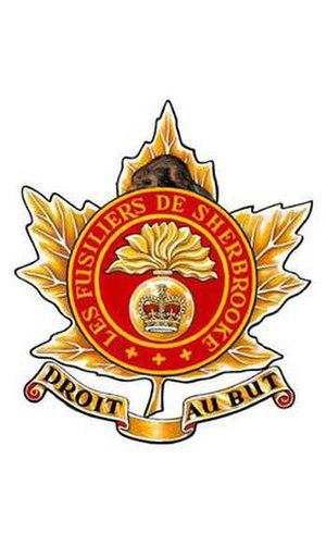 Les Fusiliers de Sherbrooke - Image: F de Sher Badge