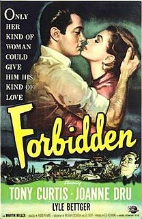 <i>Forbidden</i> (1953 film) 1953 film by Rudolph Maté