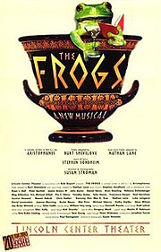 Theatrical poster for the 2004 Broadway production of The Frogs