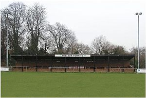 Royston Town F.C. - The stand at Garden Walk.