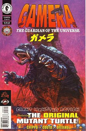Gamera - The first issue of the Gamera comic book miniseries by Dark Horse Comics