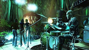 Guitar Hero Smash Hits - Beenox Studios developed venues for Smash Hits at various wonders of the world, including the Amazon rain forest.