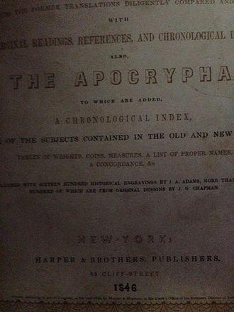 Harper (publisher) - 1846 Harper's Illuminated Bible