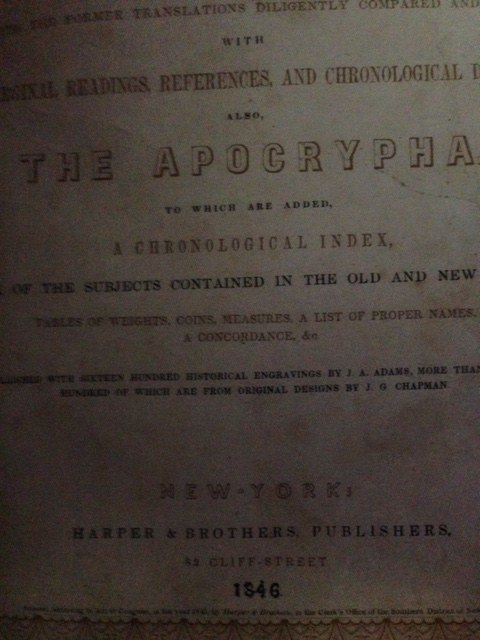 Harper Brother's Illuminated Bible