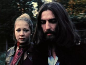 "Something (Beatles song) - Harrison and Boyd in the ""Something"" film clip"