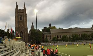 Back Campus Fields - Soldiers' Tower and Pan Am Parapan Am Fields