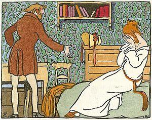 La Vie de Bohème - Illustration by Joseph Hémard from Scènes de la Vie de Bohème, Paris, 1921.