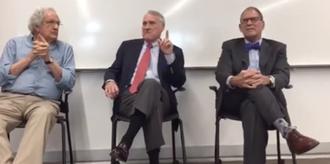 Paul Bender (jurist) - Paul Bender (left), Jon Kyl (center) and Andrew D. Hurwitz (right) speaking at Arizona State University