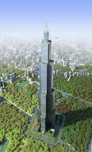 Sky City (Changsha) - Artist's impression of Sky City