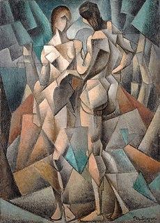 <i>Deux Nus</i> painting by Jean Metzinger