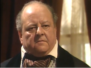 """John Sharp (actor) - John Sharp (1909 – 1992) playing Percy Spendilow in the episode """"A Clear Conscience"""" in the series """"The Onedin Line""""."""