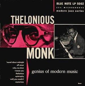 Genius of Modern Music: Volume 1 - Image: LP 5002 Monk