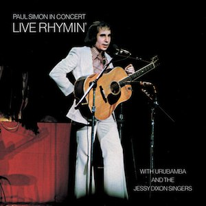 Paul Simon in Concert: Live Rhymin' - Image: Live Rhymin Front