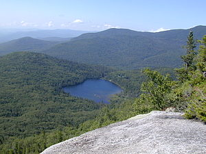 Lonesome Lake (New Hampshire) - Lonesome Lake from Cannon Mountain
