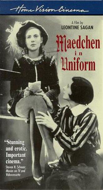 Mädchen in Uniform - US VHS video release cover