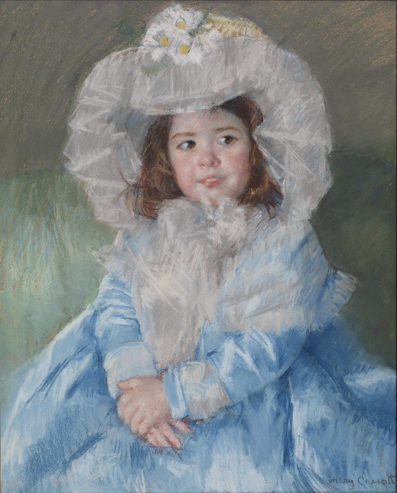 Margot in Blue Cassatt