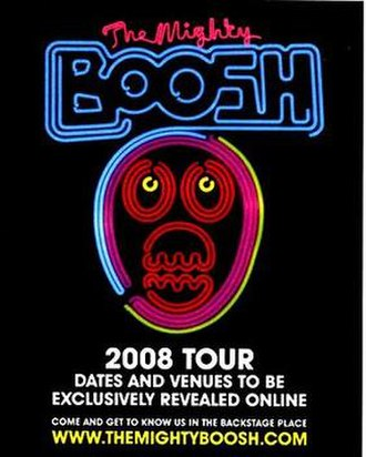 The Mighty Boosh - Poster used in magazines and venues around the UK to promote the Boosh's nationwide 2008 tour.