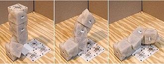 Self-reconfiguring modular robot - Molecubes in motion