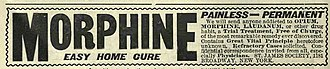 Opiate - Morphine addiction cure advertisement in the year 1900