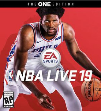 NBA Live 19 - Cover art featuring Joel Embiid