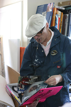 Nick Egan - Nick Egan at work in his studio in Los Angeles