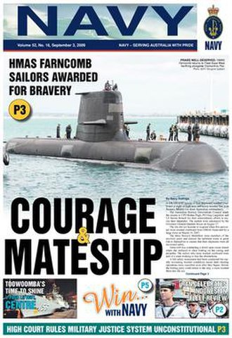 Navy News (Australia) - The front page of Navy News, 3 September 2009 edition