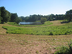 Occum Pond in Hanover, New Hampshire. Northern and western New England are very rural, especially when compared to the urban southern and eastern coast.