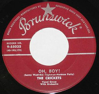 Oh, Boy! (The Crickets song) 1957 song by The Crickets