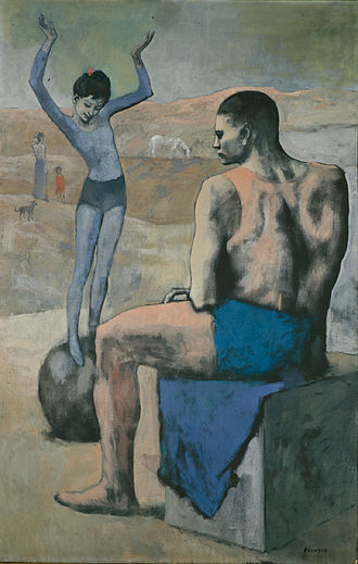 Picasso's Rose Period - Image: Pablo Picasso, 1905, Acrobate à la Boule (Acrobat on a Ball), oil on canvas, 147 x 95 cm, The Pushkin Museum, Moscow