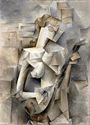 Pablo Picasso, 1910, Girl with a Mandolin (Fanny Tellier), oil on canvas, 100.3 x 73.6 cm, Museum of Modern Art New York..jpg