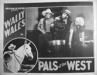 Wally Wales - Lobby card for Pals of the West (1934)