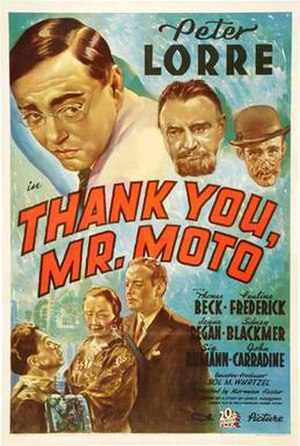 Thank You, Mr. Moto (film) - Image: Poster of Thank You, Mr. Moto