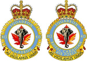 413 Transport and Rescue Squadron - Squadron badge