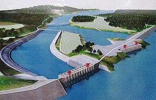 Myitsone Dam dam in Kachin, Burma
