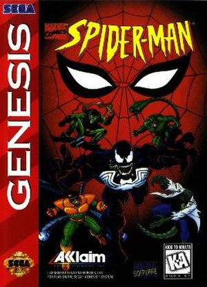 Spider-Man (1995 video game) - Packaging for the Genesis version