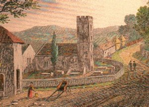 Raglan, Monmouthshire - St Cadoc's Church, ca.1700
