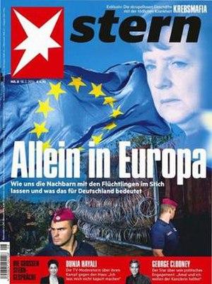 Stern (magazine) - Stern magazine cover on 18 February 2016