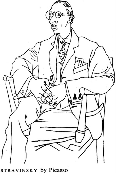 Upside Down Contour Line Drawing : File stravinsky picasso wikipedia
