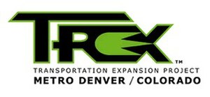 Interstate 25 in Colorado - T-REX Logo