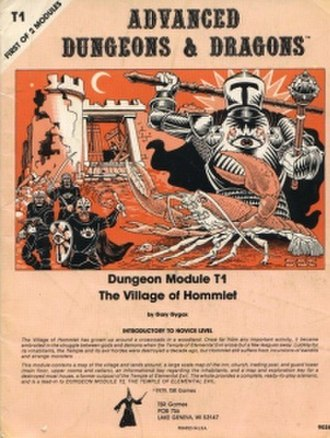 Adventure (Dungeons & Dragons) - T1 Dungeon Module Cover, an example of an early Adventure for Dungeons & Dragons published by TSR