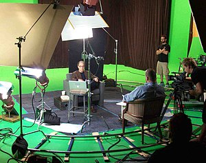 Transcendent Man - Ray Kurzweil being interviewed by Barry Ptolemy on the set of Transcendent Man.