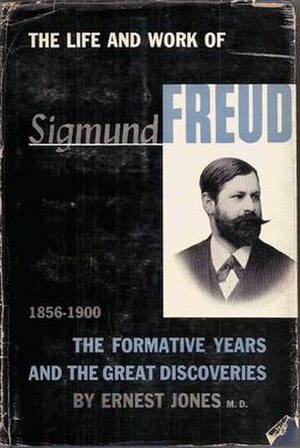 The Life and Work of Sigmund Freud - Cover of volume one of the first edition
